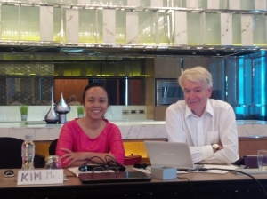 Ms Kim Thanh Nguyen and Dr Kim Jauncey who led the training
